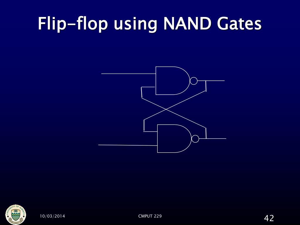 Flip-flop using NAND Gates