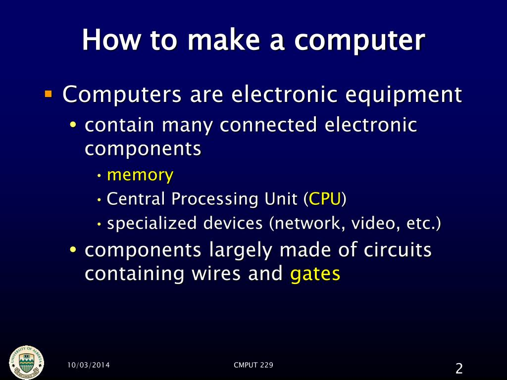 How to make a computer