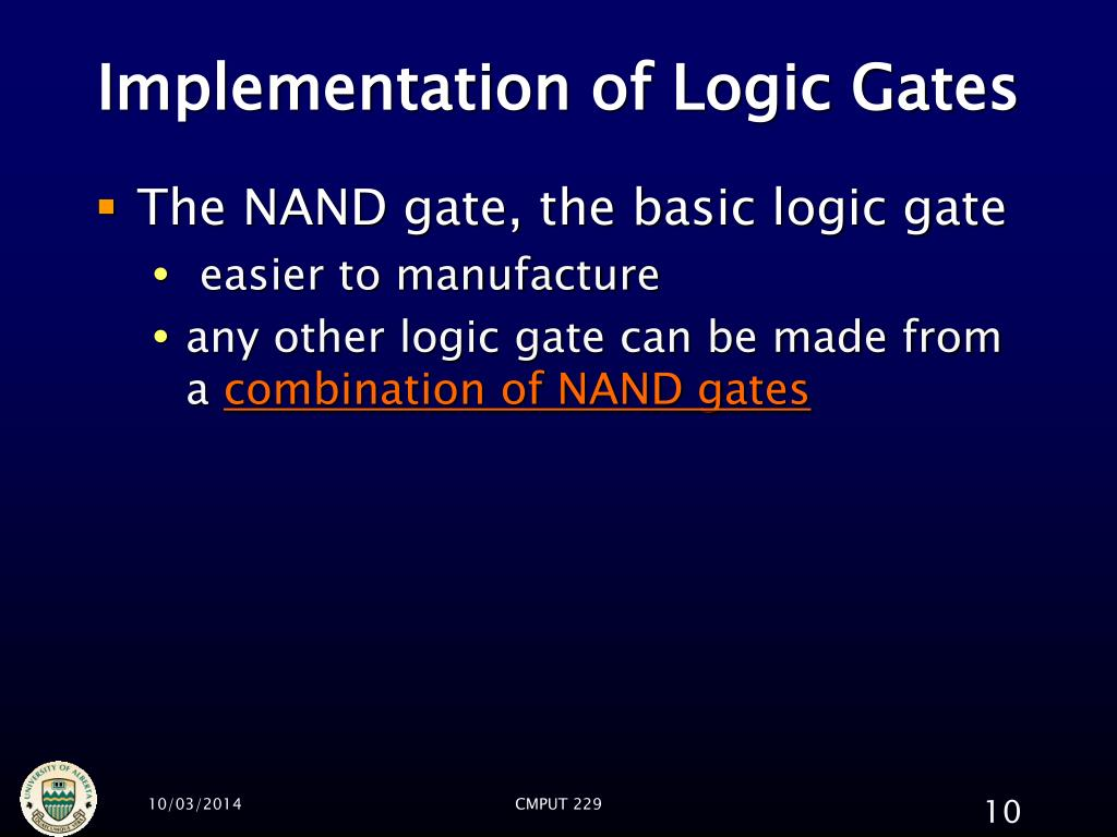 Implementation of Logic Gates