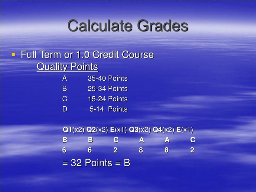 Calculate Grades