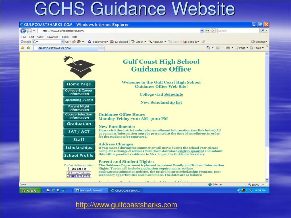 GCHS Guidance Website
