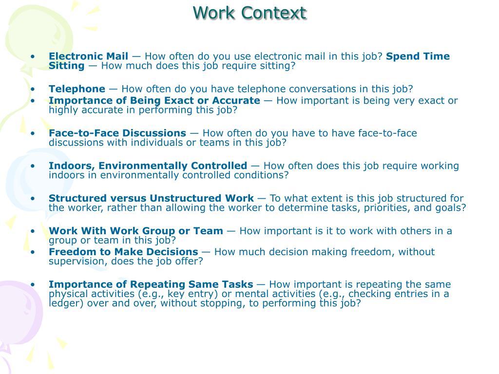 Work Context