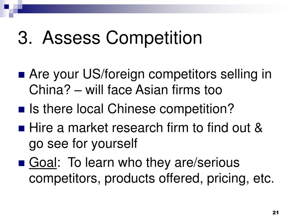 3.  Assess Competition