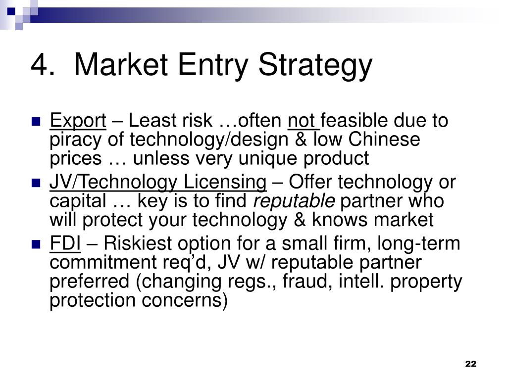4.  Market Entry Strategy