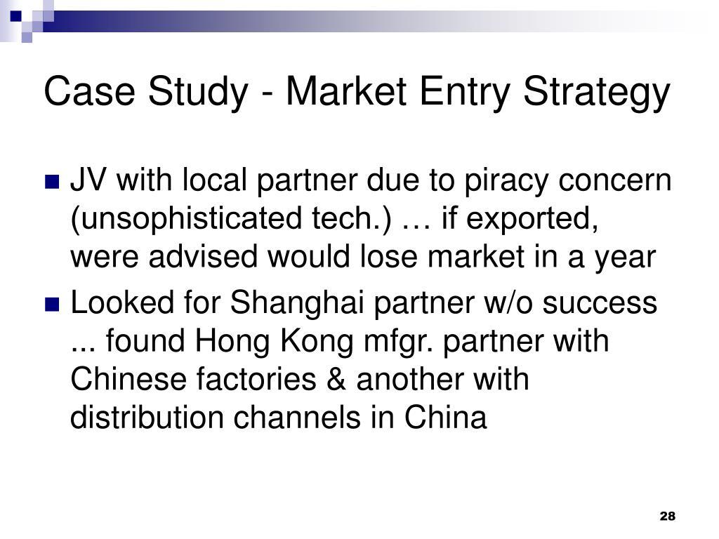 Case Study - Market Entry Strategy