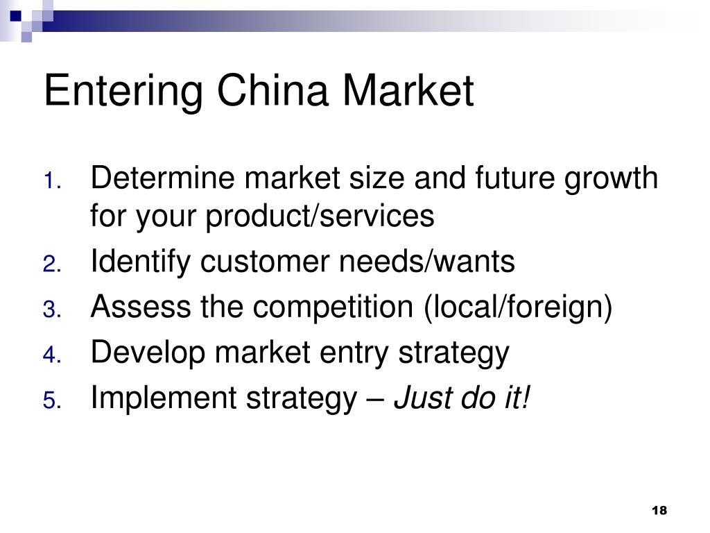 Entering China Market