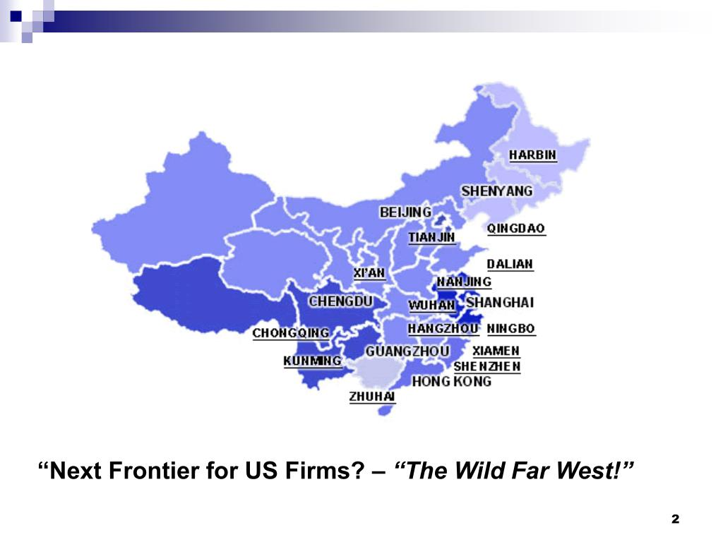 """""""Next Frontier for US Firms? –"""