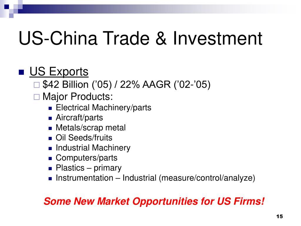 US-China Trade & Investment