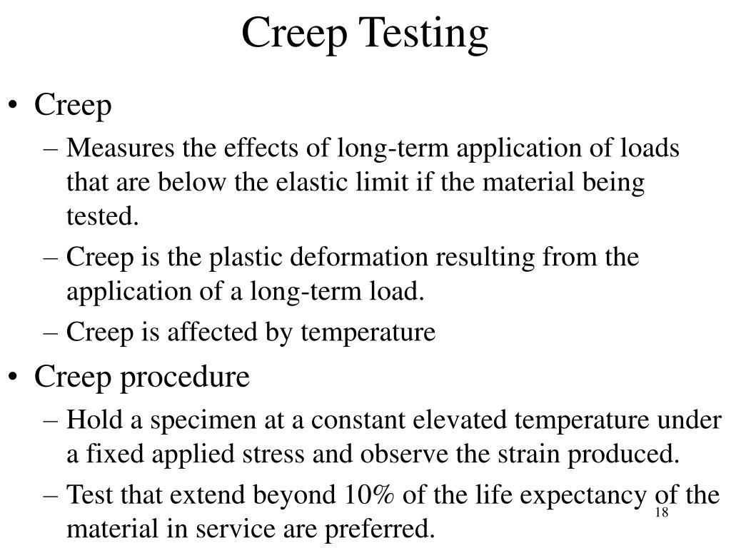 Creep Testing
