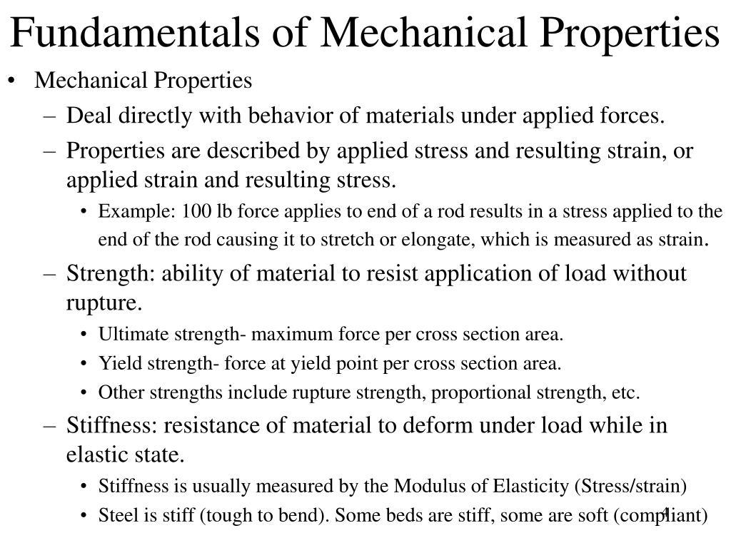 Fundamentals of Mechanical Properties