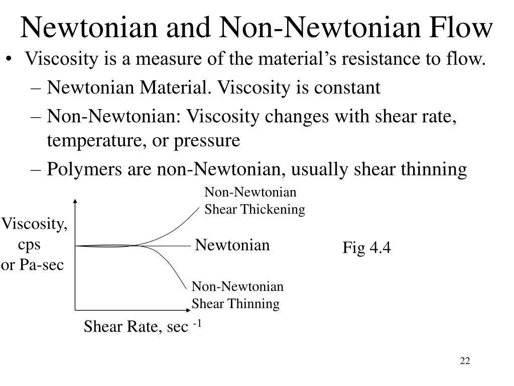 Newtonian and Non-Newtonian Flow