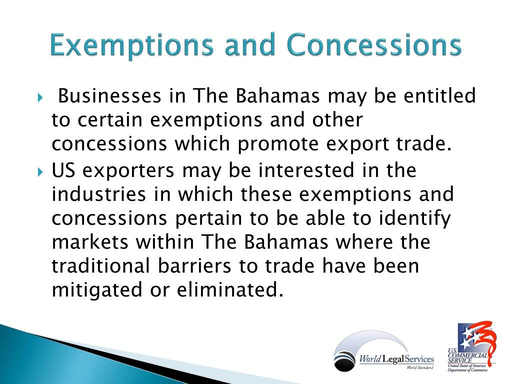 Exemptions and Concessions