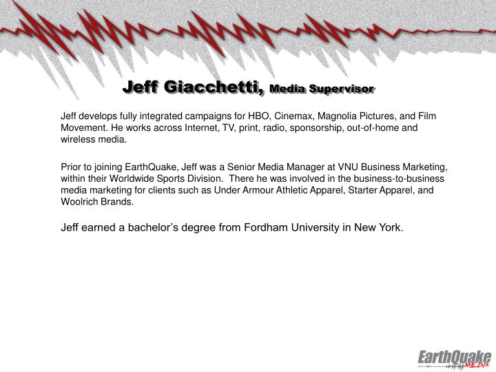 Jeff Giacchetti,