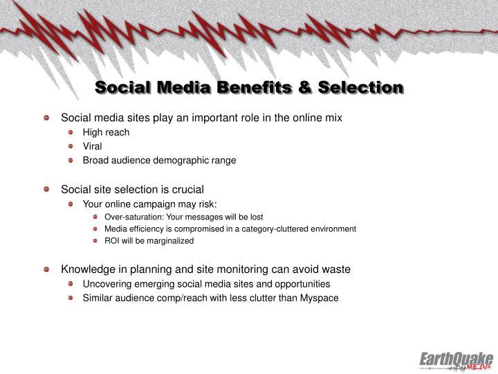 Social Media Benefits & Selection