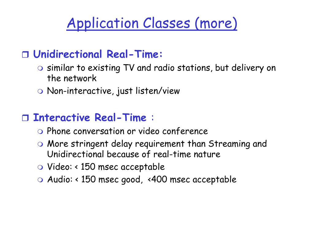 Application Classes (more)