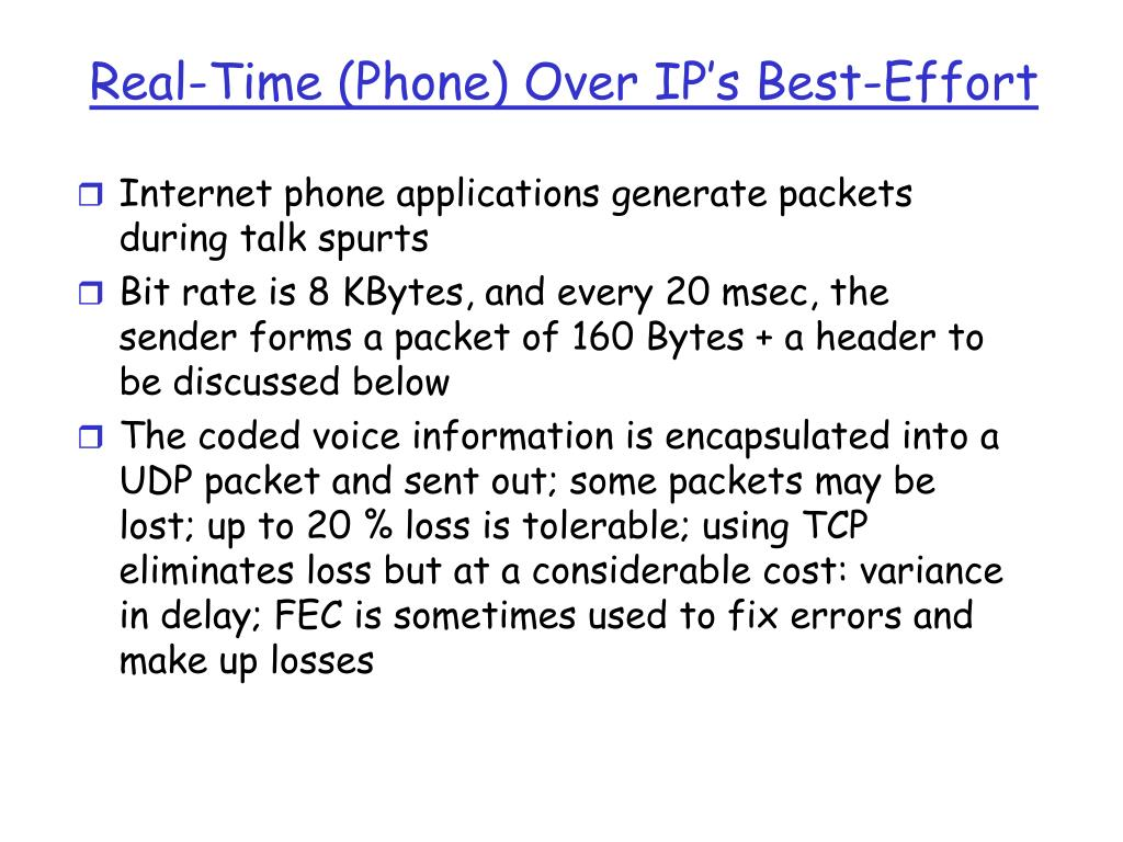 Real-Time (Phone) Over IP's Best-Effort