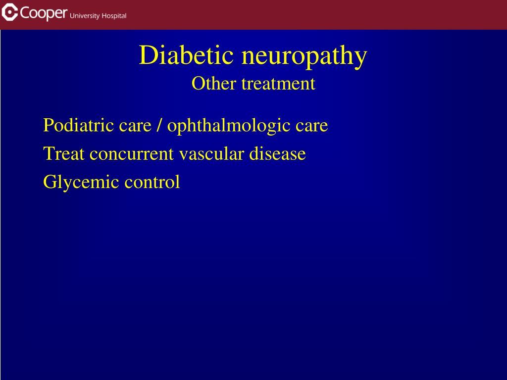 Podiatric care / ophthalmologic care