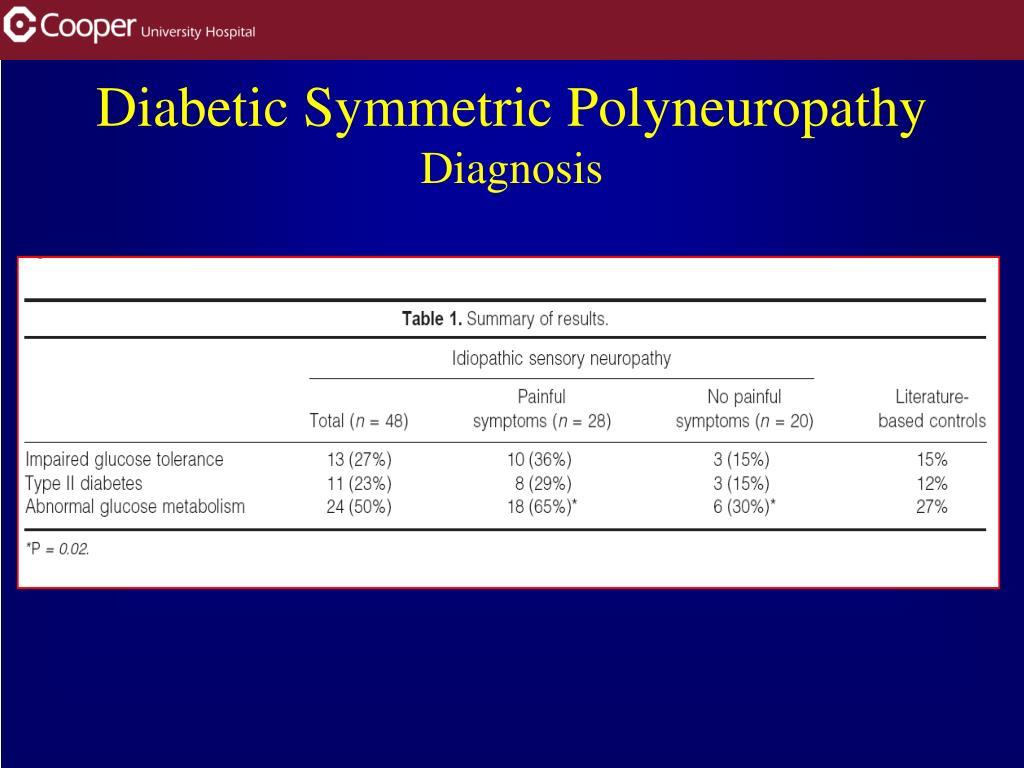 Diabetic Symmetric Polyneuropathy