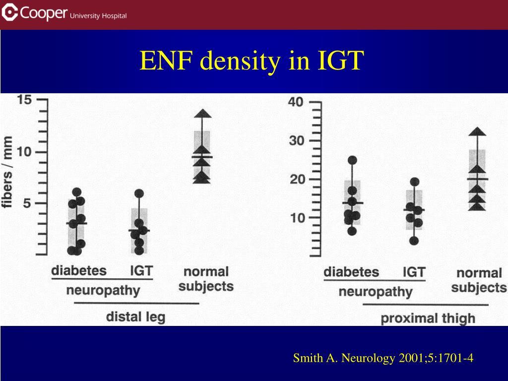 ENF density in IGT