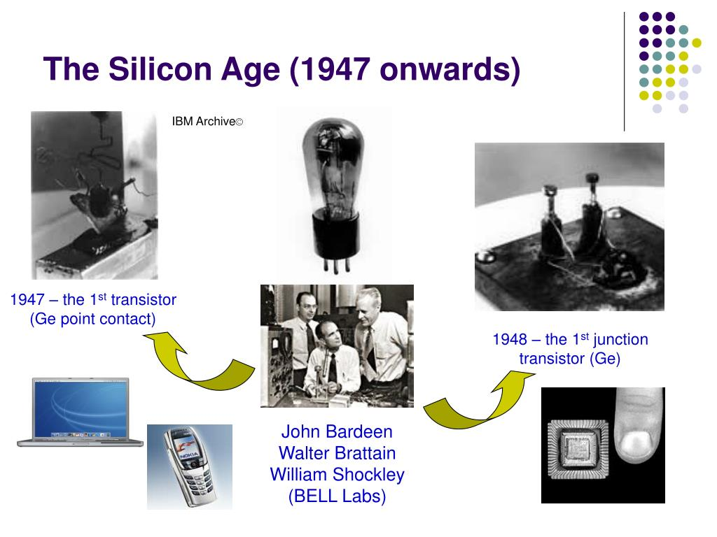 The Silicon Age (1947 onwards)