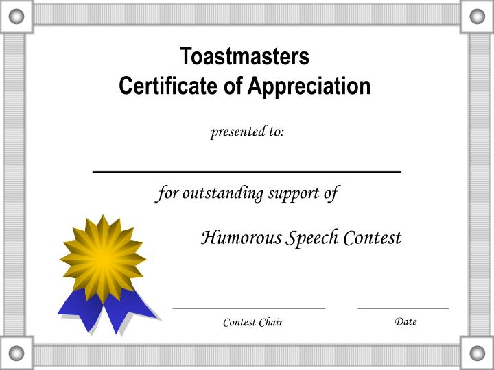 Toastmasters certificate of appreciation3