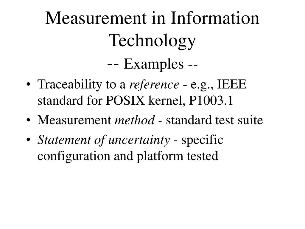 Measurement in Information Technology