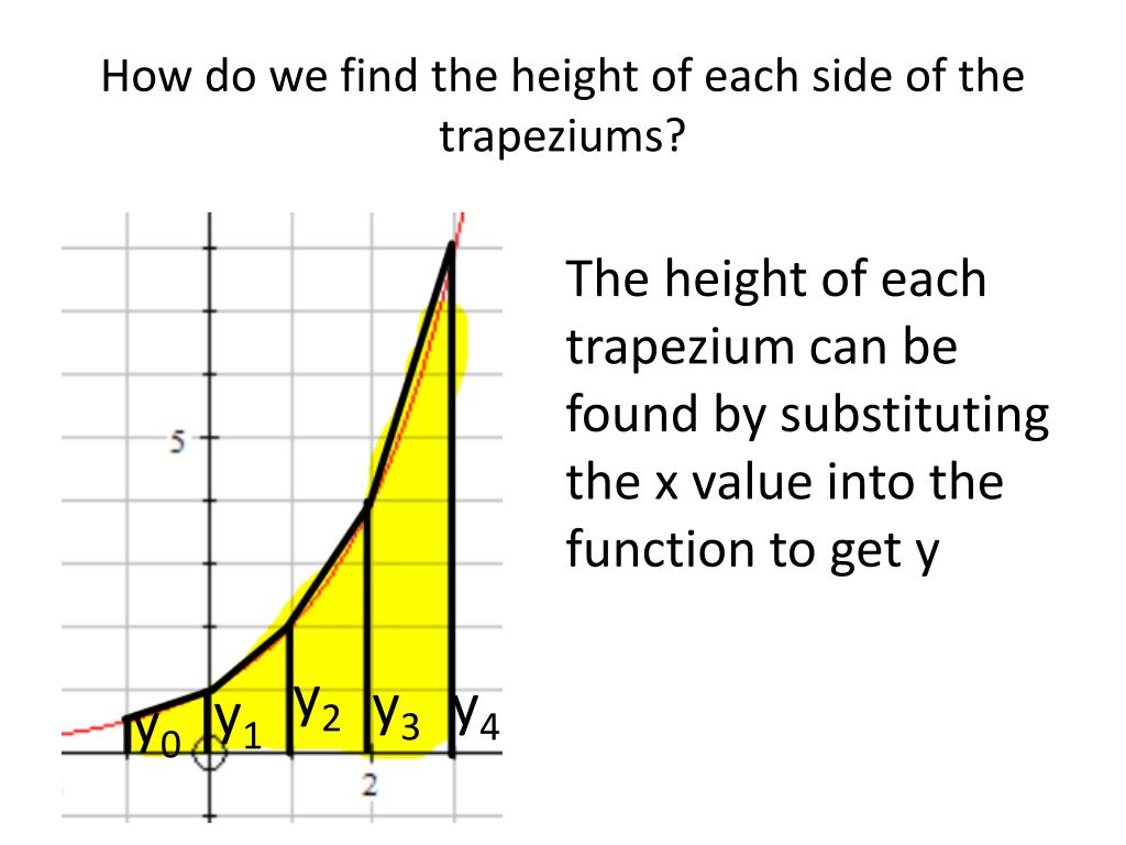 How do we find the height of each side of the trapeziums?