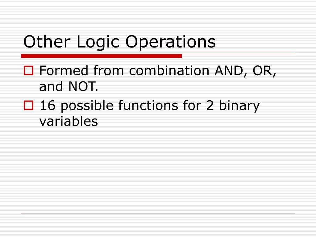 Other Logic Operations