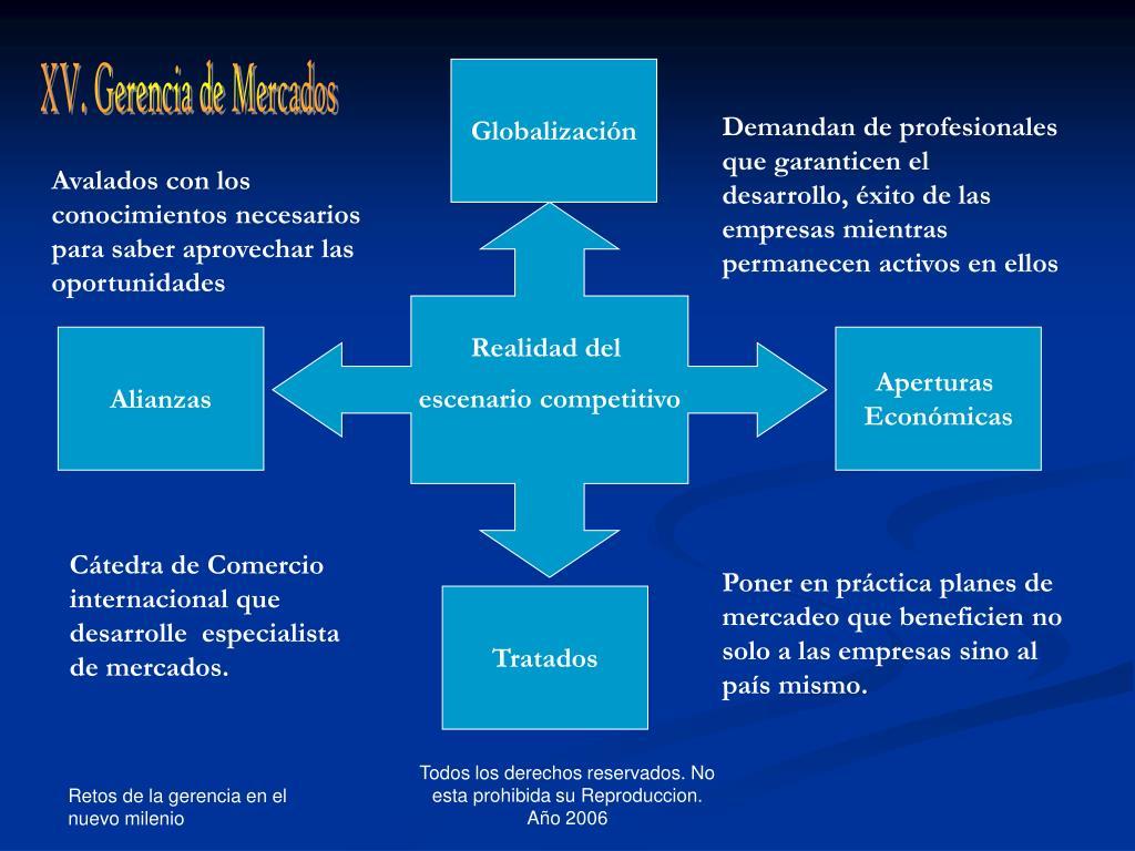 XV. Gerencia de Mercados