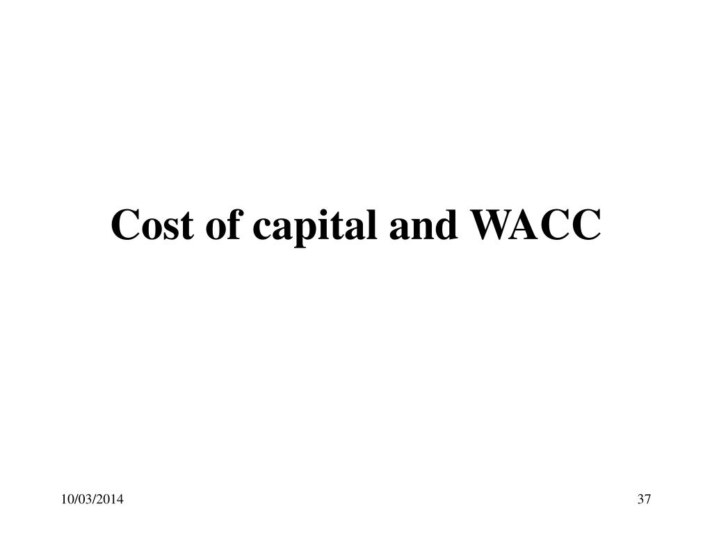 Cost of capital and WACC
