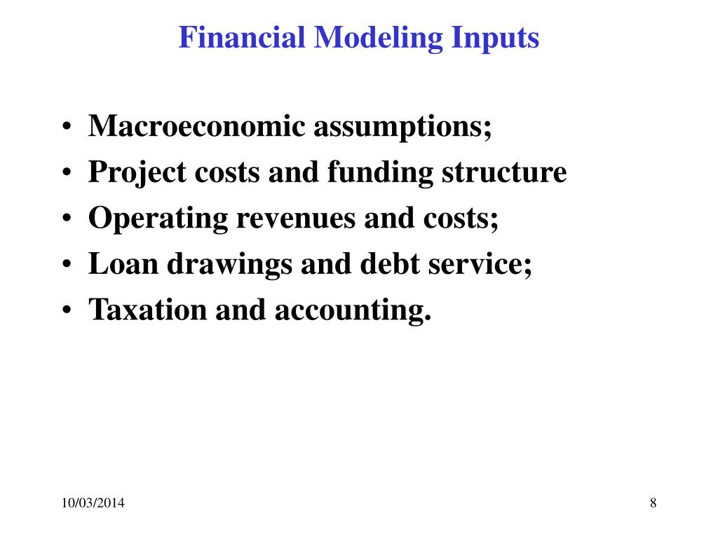Financial Modeling Inputs