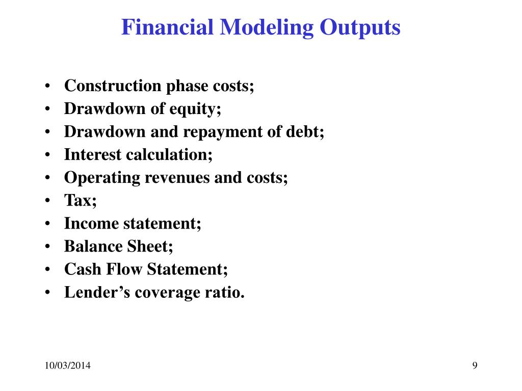 Financial Modeling Outputs