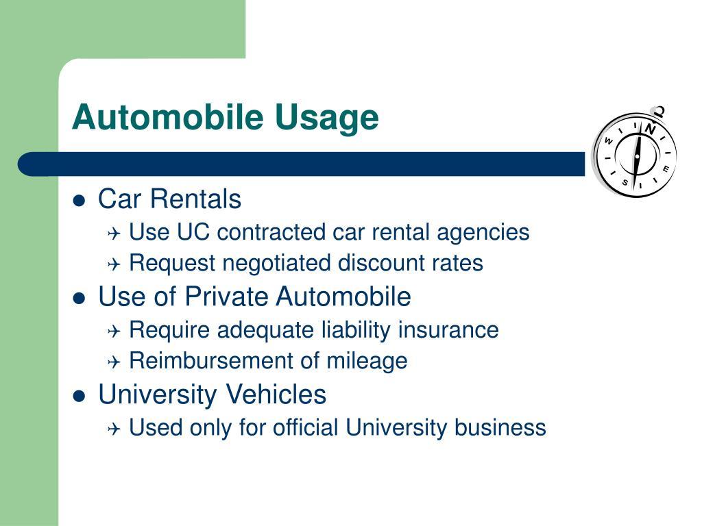 Automobile Usage
