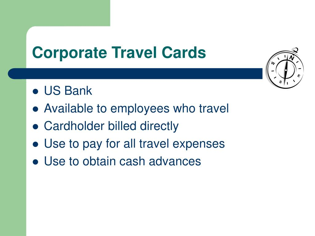 Corporate Travel Cards
