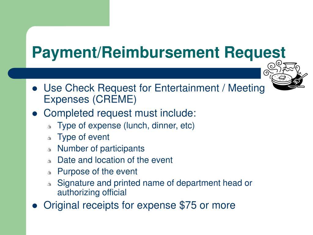 Payment/Reimbursement Request