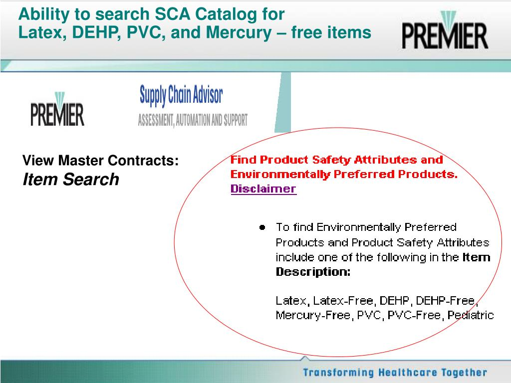 Ability to search SCA Catalog for