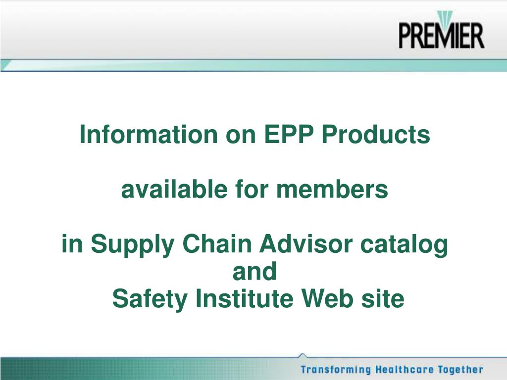 Information on EPP Products