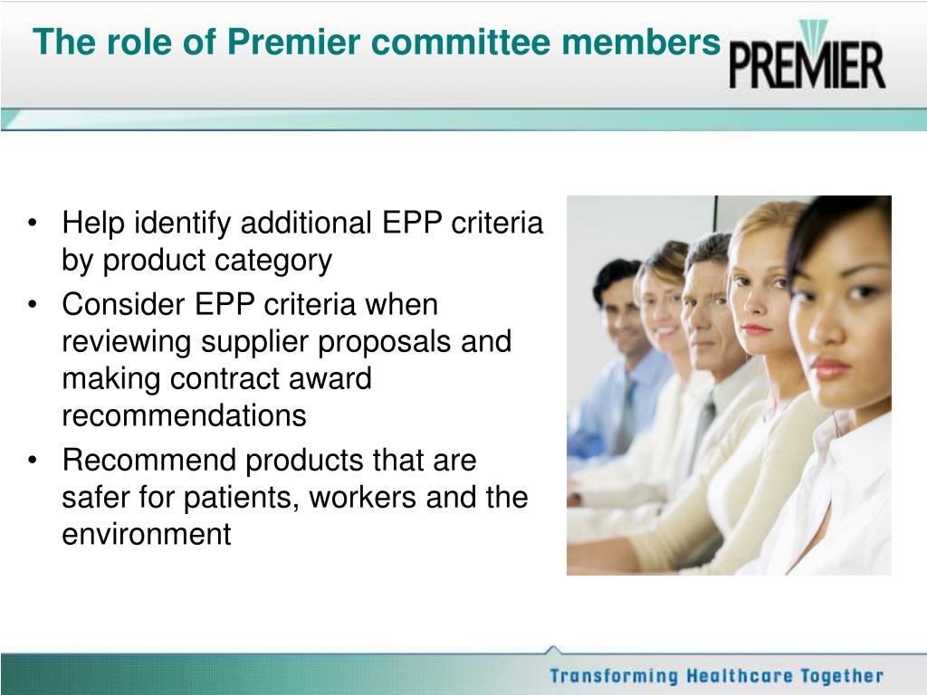 The role of Premier committee members