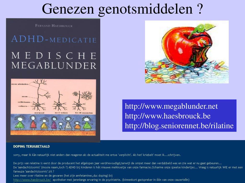 Genezen genotsmiddelen ?