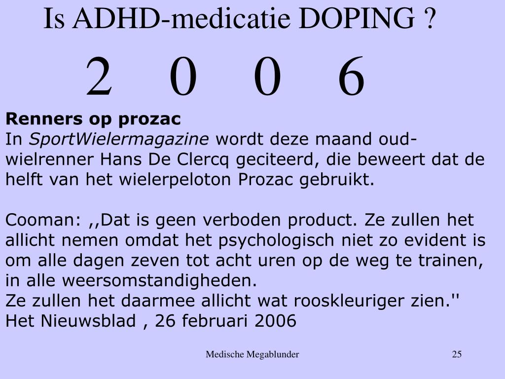 Is ADHD-medicatie DOPING ?