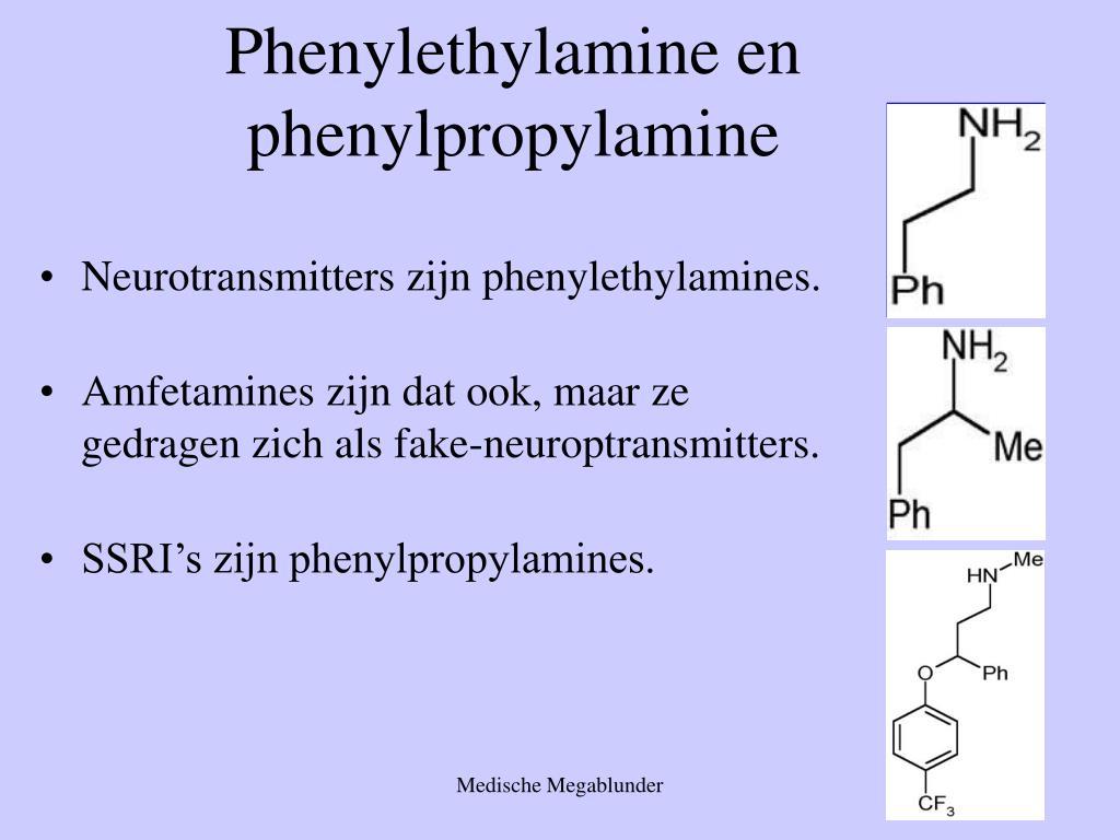 Phenylethylamine en phenylpropylamine