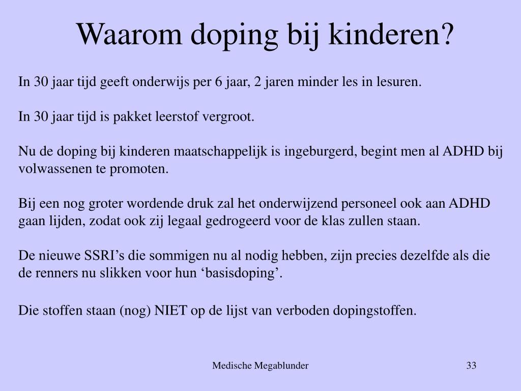 Waarom doping bij kinderen?