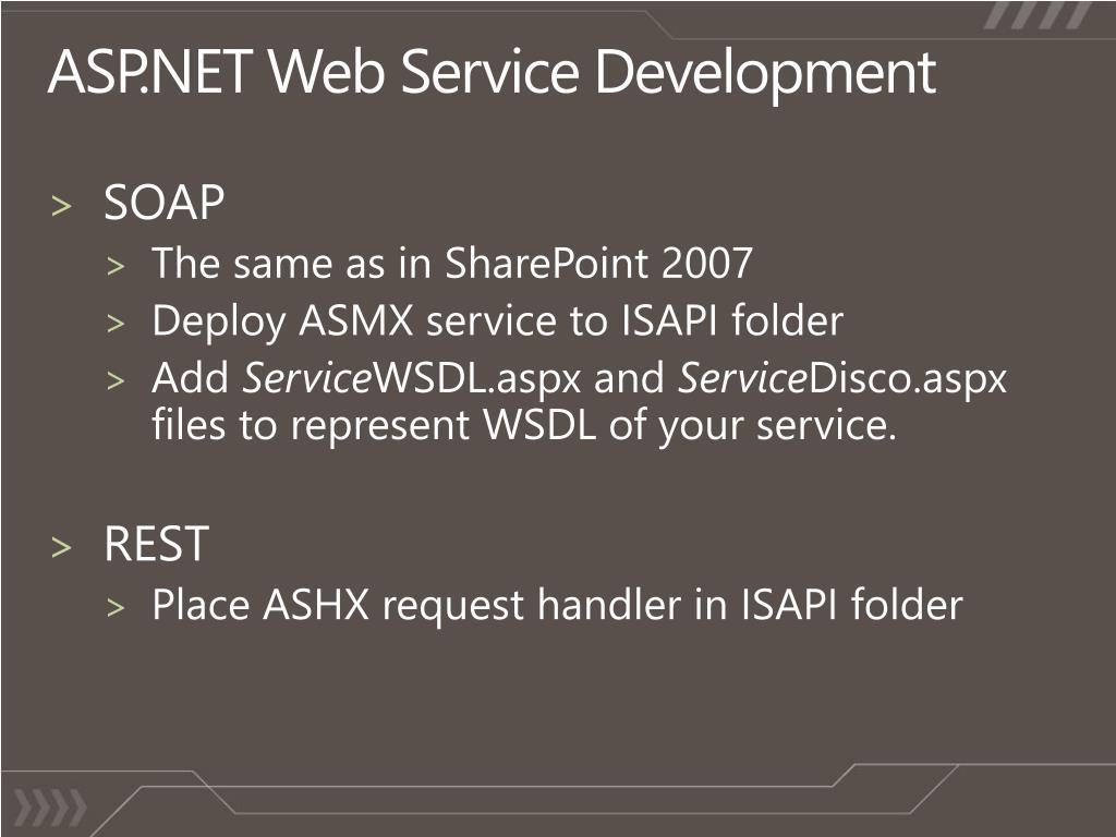 ASP.NET Web Service Development