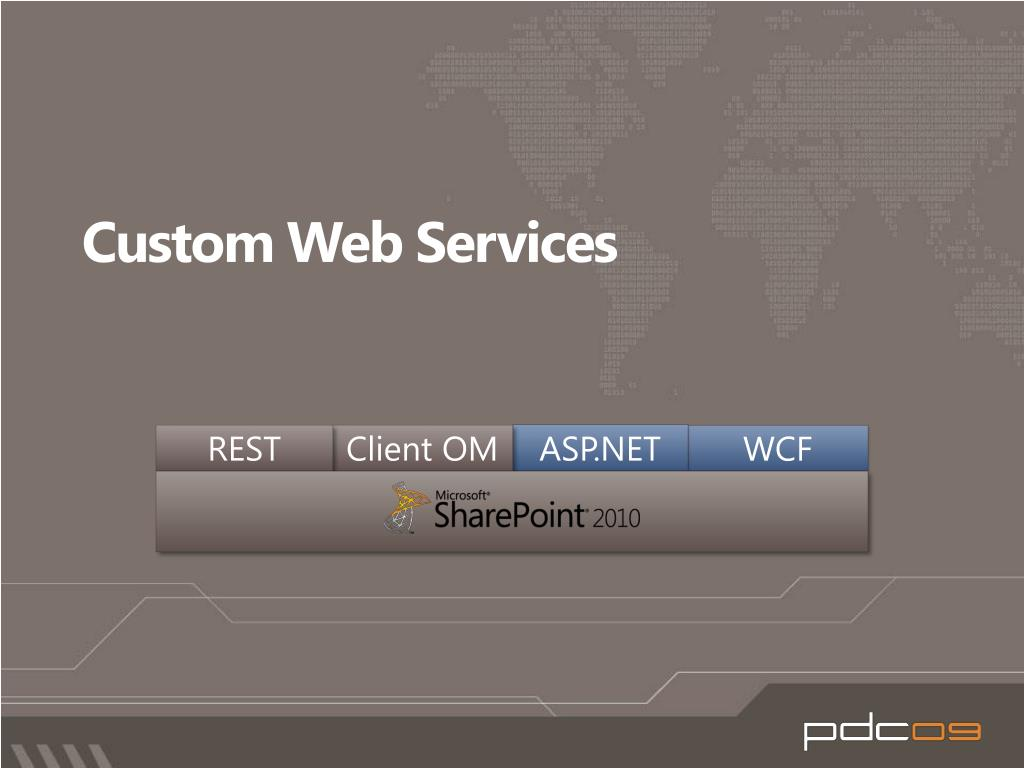 Custom Web Services