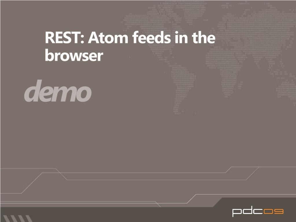 REST: Atom feeds in the browser
