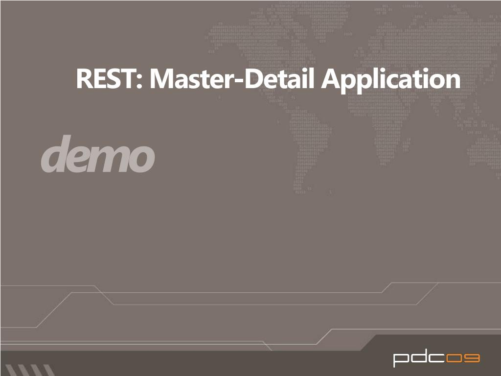 REST: Master-Detail Application