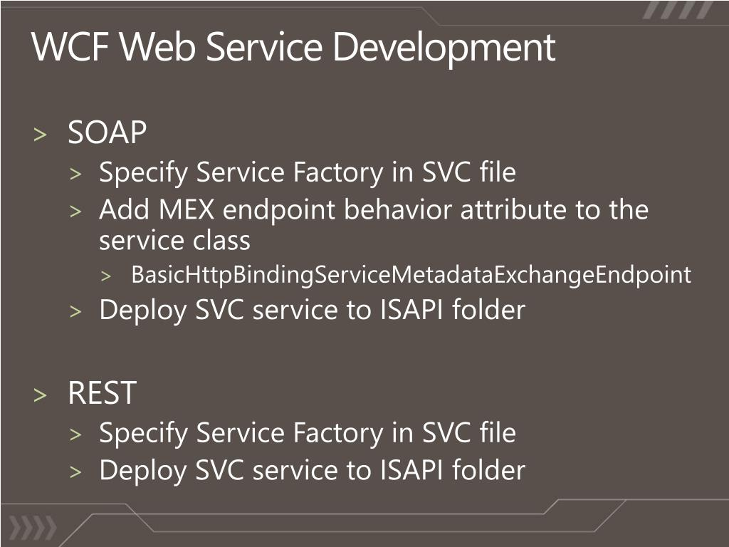 WCF Web Service Development
