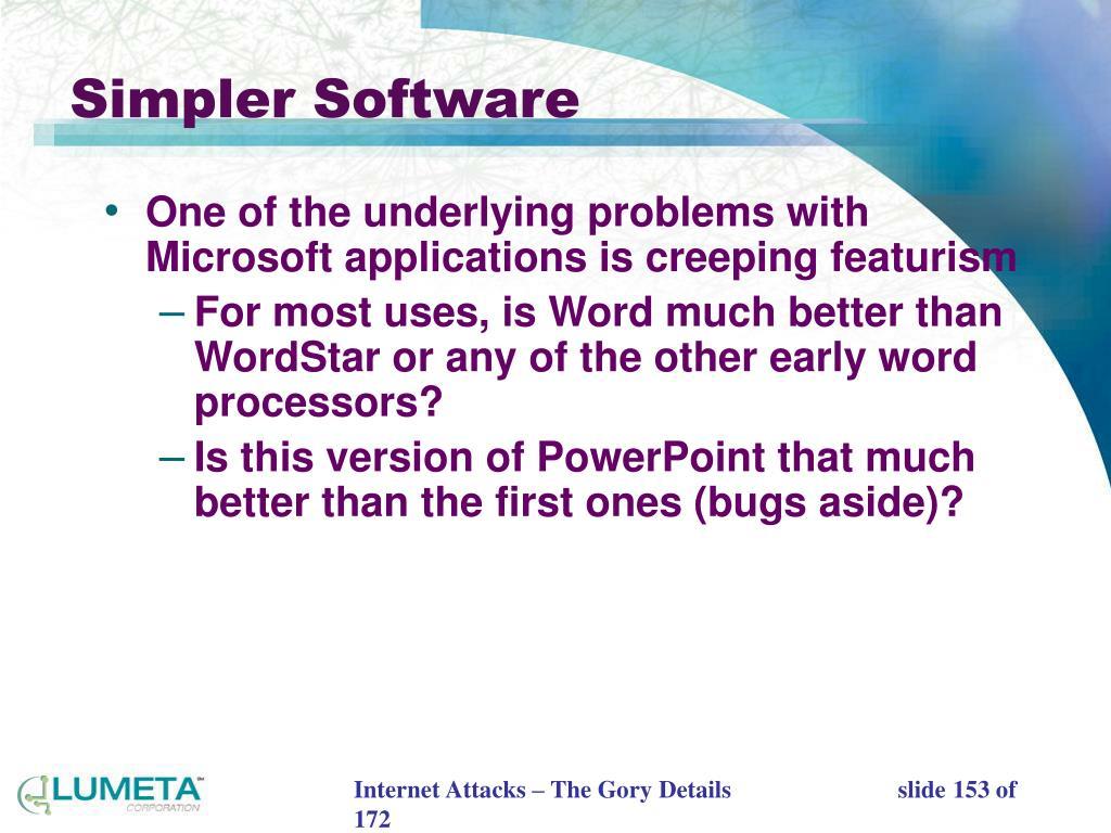 Simpler Software