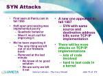 syn attacks