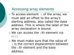 accessing array elements